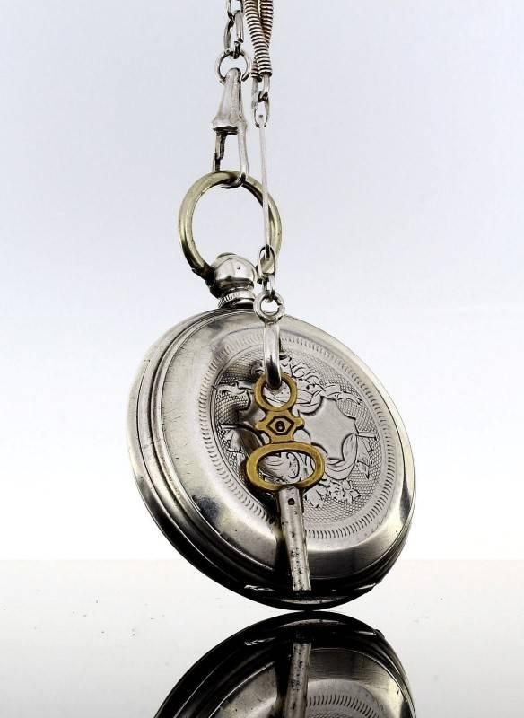 33ca36fd8fe Lote 5899 - Invulgar relógio de bolso português antigo em prata ...