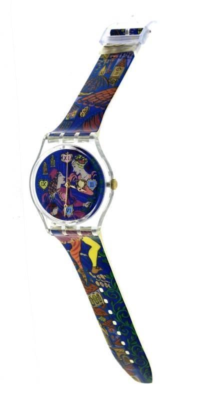 198445cd3 Lote 37 - Relógio de pulso da marca SWATCH, original, modelo ROMEO+ JULIET  GN162 da linha Gent. Caixa em plástico com 34 mm, bracelete em plástico.