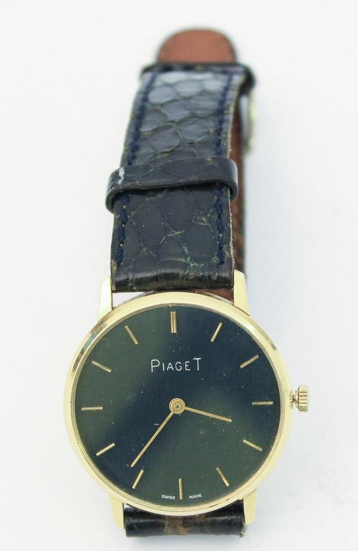 c5016a5f8ba Lote 3580 - Relógio de pulso de homem da marca suiça Piaget com banho de  ouro de 18K