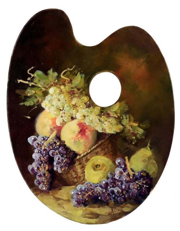 9caaa665c Lote 4871 - José Vicente Pirra - Original - Pintura a óleo sobre paleta de  madeira