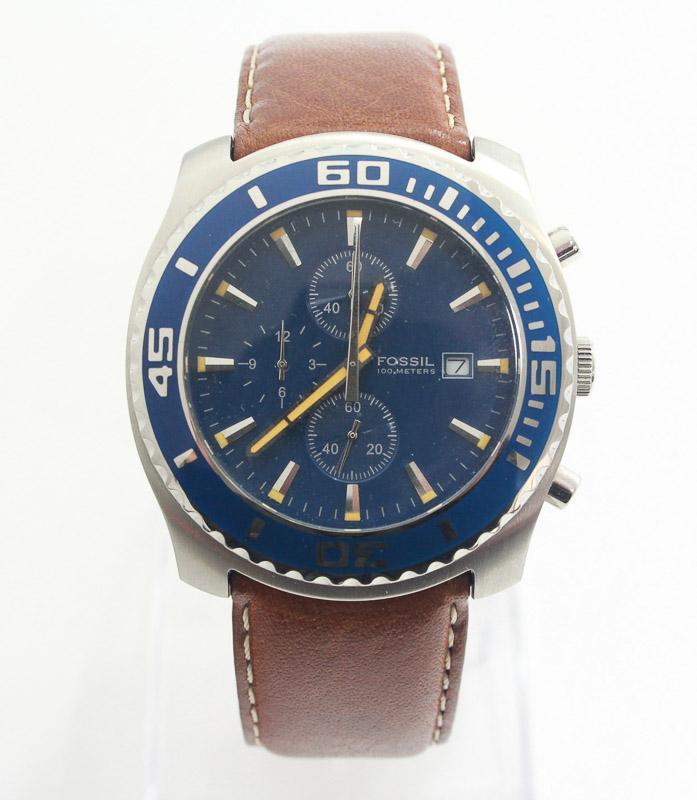 6cc81ccd1f6 Lote 3335 - RELÓGIO de pulso da marca FOSSIL Blue Chrono CH- 2444.  Movimento a Quartz. Caixa em aço inoxidável polido com 44mm de diâmetro por  10mm de ...