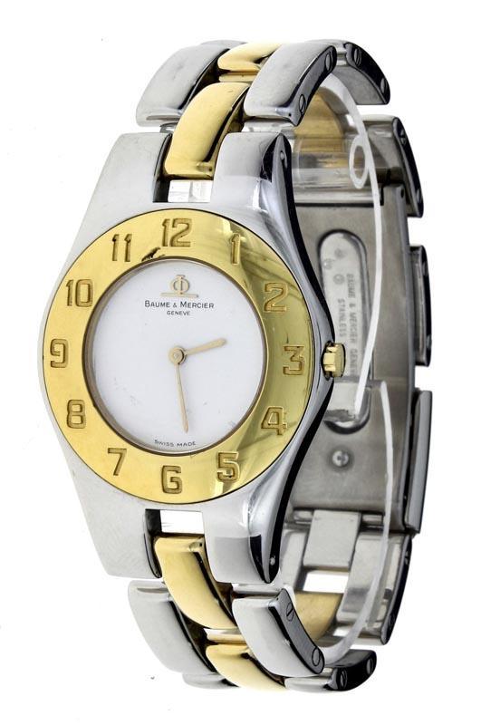 ae2eef7bda9 Lote 5194 - BAUME   MERCIER - Relógio de pulso de senhora modelo Linea