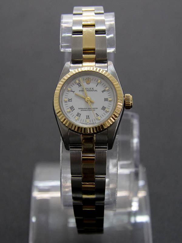 b44d3542738 Lote 4002 - ROLEX - Relógio de Pulso Senhora Rolex Oyster Perpetual em aço  e Ouro. Similar à venda por € 4.900 (vide nota). Funcionamento automático