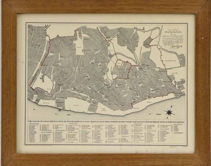 mapa de lisboa online Lote 11   GRAVURA MAPA DE LISBOA – Antiga, legendada, nomes de  mapa de lisboa online