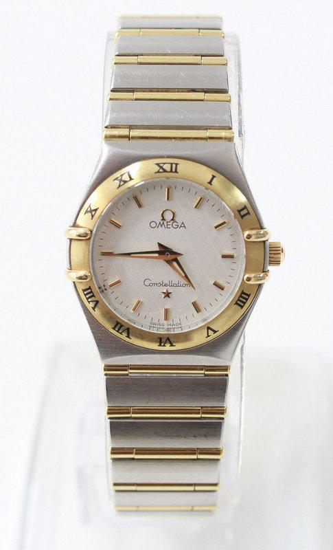 b1e88ace6af Lote 4005 - RELÓGIO OMEGA OURO E AÇO– Relógio de pulso de Senhora Omega em  Ouro Amarelo (750) e Aço e pulseira original em Ouro Amarelo (750) e Aço.