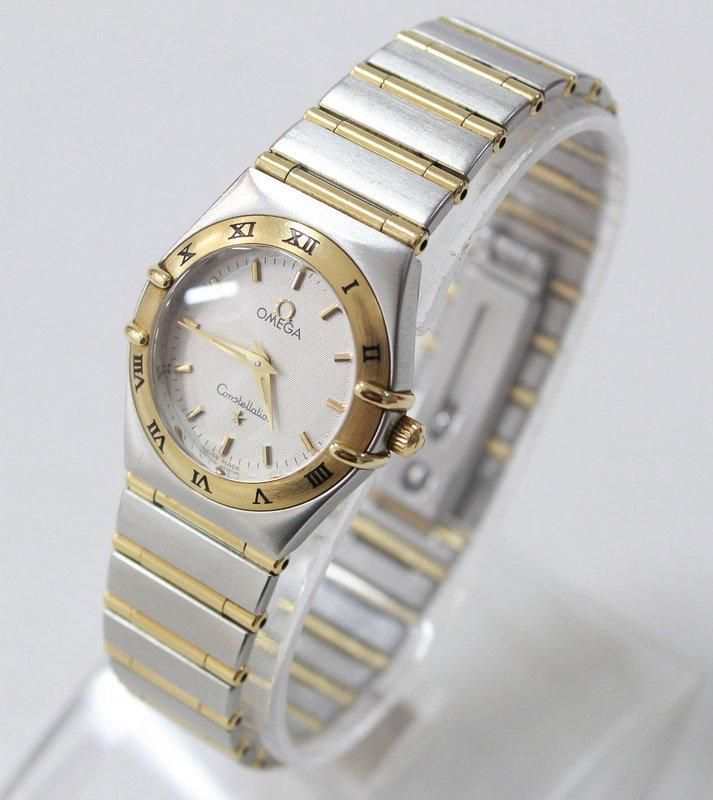 939ebb16863 Lote 4005 - RELÓGIO OMEGA OURO E AÇO– Relógio de pulso de Senhora ...