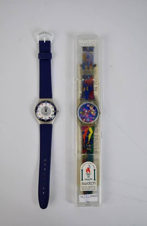 f20d4981f Lote 2010029 - Lote de 2 relógios de pulso, Swatch