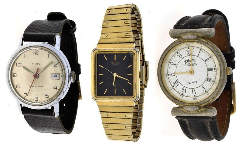 22a668eae8301 Lote 27 - RELÓGIOS DE PULSO – Conjunto de 3 relógios