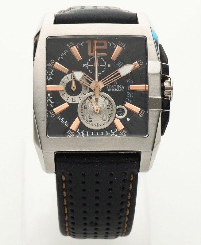 a0e8e2aa9ec Lote 2 - RELÓGIO FESTINA CHRONO - Relógio de pulso da marca FESTINA Chrono  F16363 . Movimento a Quartz .Similar à venda por ap. € 253