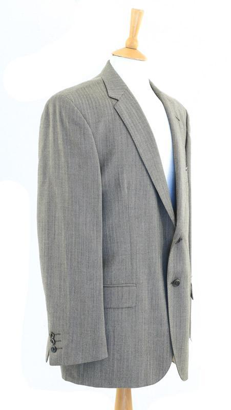 50d03a5a6e326 Lote 4228 - EMIDIO TUCCI, CASACO DE HOMEM - Tecido de lã de tom bege,  padrão espinhado, com etiqueta Emidio Tucci, El Corte Inglés, Wool Mark, ...