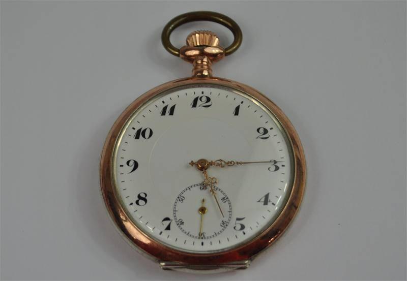 20c4923478f Lote 2008 - Relógio de bolso em prata da marca Ancre