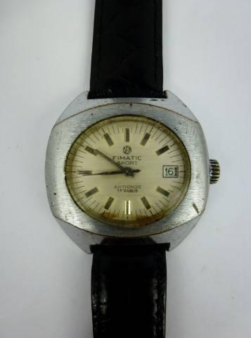 43a4c946c61 Lote 174 - Relógio pulso mecânico corda manual Original Fimatic Sport. 17  Rubis. Antigo de colecção. Apresenta sinais de uso