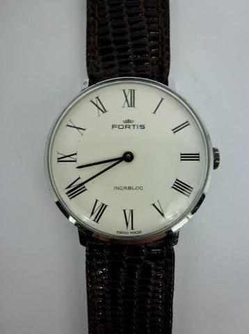 b99faae5a0c Lote 450 - Relógio pulso mecânico corda manual Original Fortis ...