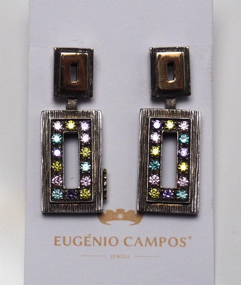 927fae267 Lote 4060 - BRINCOS EUGÉNIO CAMPOS - Brincos em prata águia 925 e ouro  andorinha 375 de 9kt. Peso: 10,3 gr. Dimensão: 3 cm. PVP: € 259,9.