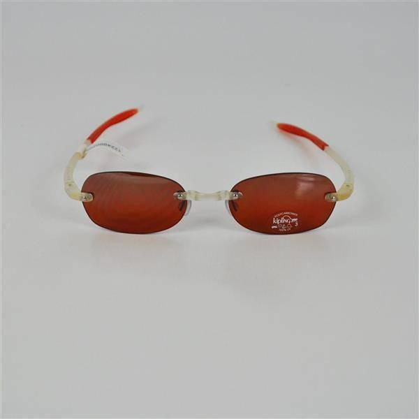 02139f7cb Lote 607 - Óculos de Sol, KIPLING, modelo rectangular, armação de silicone,  cor de laranja e translúcido, lentes de cor de laranja, Polycarbonate  protecção ...