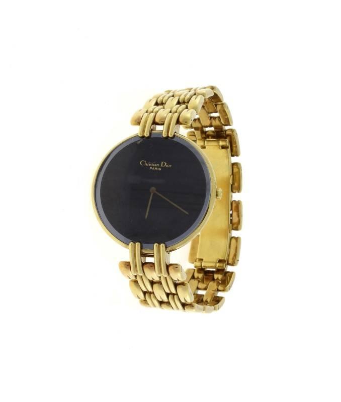 2e027d8e26f Lote 2626 - Relógio CHRISTIAN DIOR modelo BLACK MOON com caixa e bracelete  em plaquet de ouro