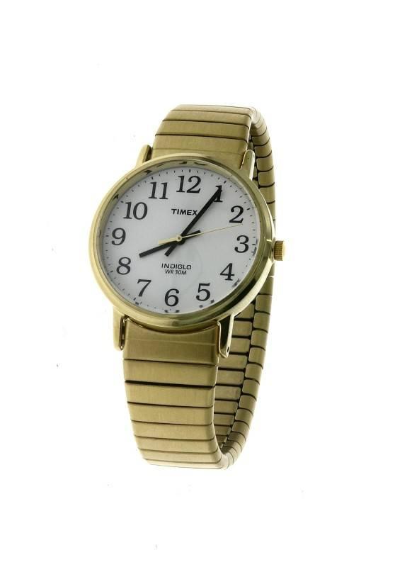 ca17ef147af Lote 97 - Relogio em aço dourado e bracelete esticável marca TIMEX INDIGLO  WR 30M quartz como novo . - Current price  €55