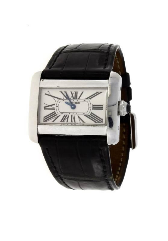 ae3386a1442 Lote 3676 - Relógio CARTIER DIVAN  ORIGINAL