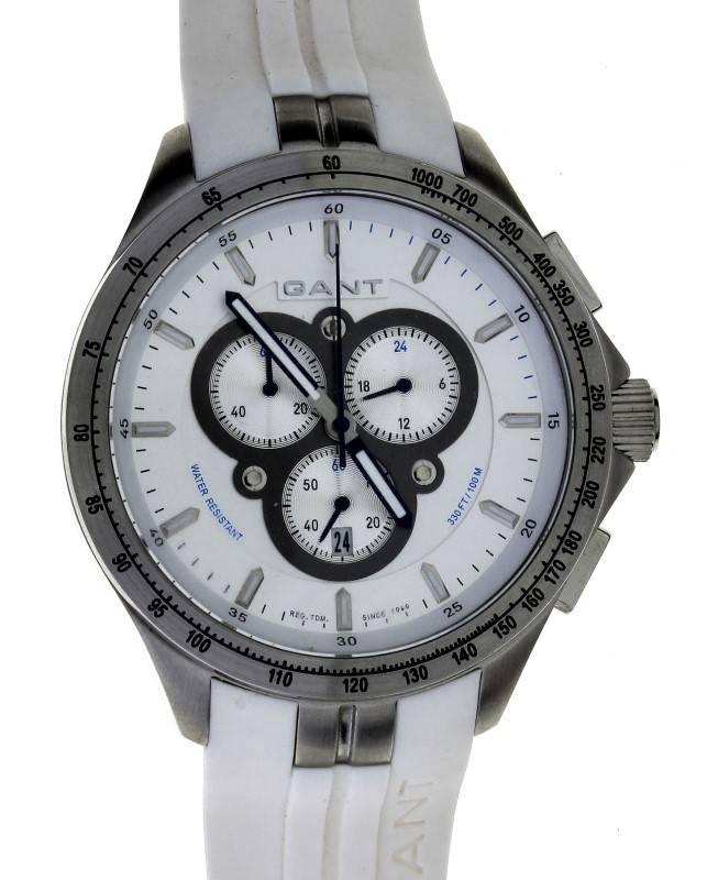 a9bedc99656 Lote 100 - Relógio GANT Cronógrafo. Caixa em Aço
