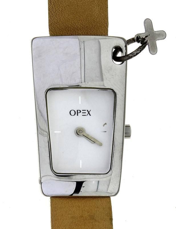 3b9cb892e07 Lote 710 - Relógio de senhora a funcionar com bracelete cor bege marca OPEX  como novo(PVP€112